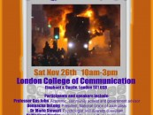 Media and the Riots conference on this Saturday
