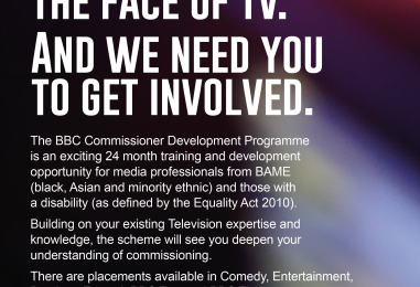 BBC invites disabled and BAME TV professionals to join exciting training and development programme.